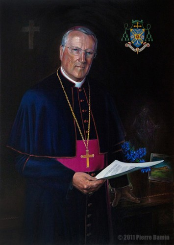 Oil Painting of The Right Reverend Terence Patrick Drainey Bishop of Middleborough