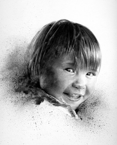 Pencil and Wash Portrait
