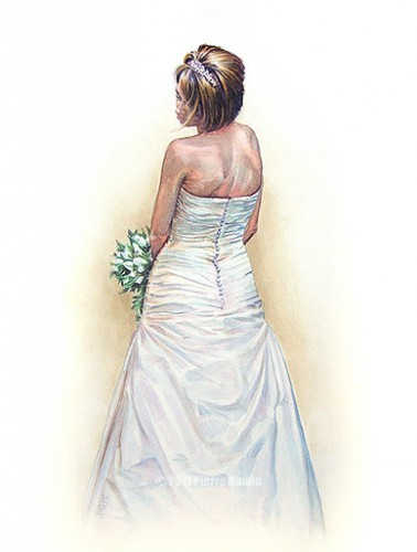 Watercolour Painting of Emma Bamin