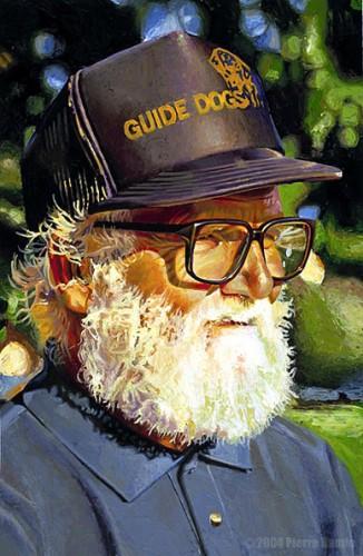 Acrylic Portrait of Bearded Man