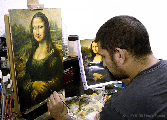 Painting Process of The Mona Lisa