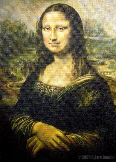 Painted Copy of The Mona Lisa