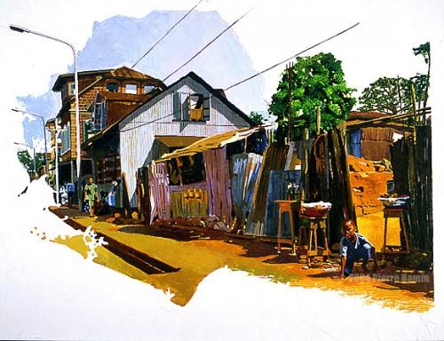 Acrylic Painting of Pademba Road