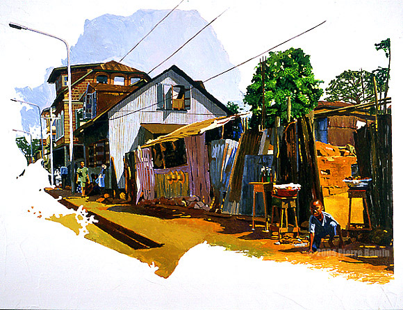 Acrylic Painting of Pademba Road