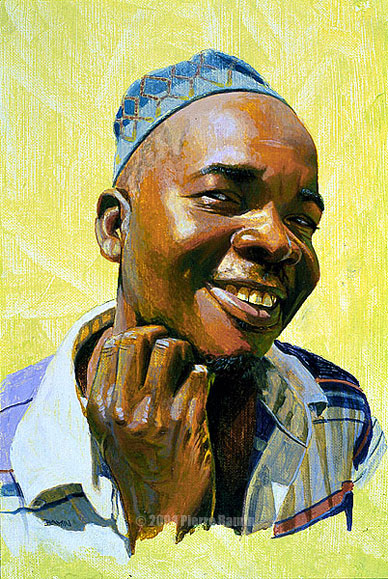 Acrylic Portrait of African Man