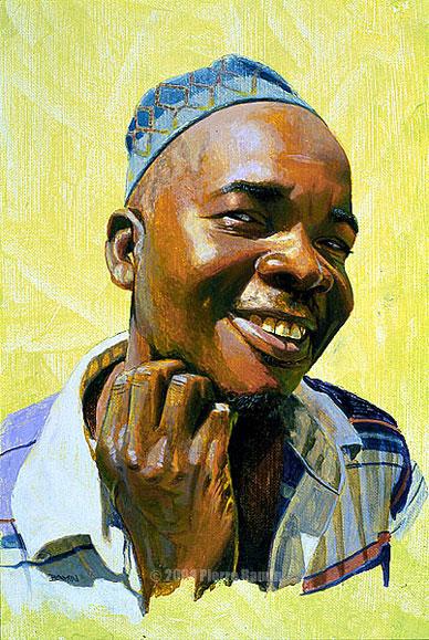 Acrylic Portrait of African Man