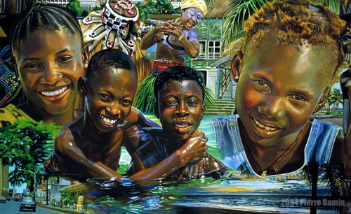 Acrylic Painting of Sierra Leone