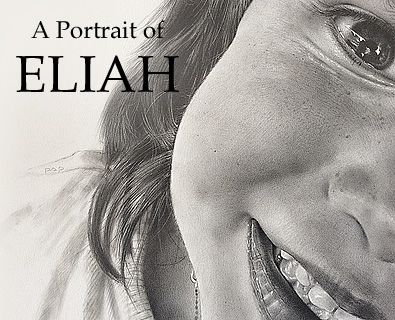 A Portrait of Eliah created in pencil on board