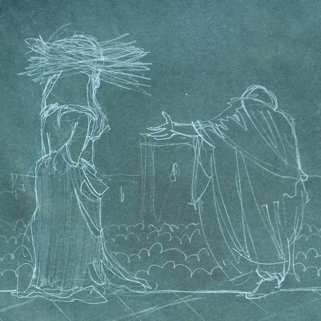 Ecce homo sketch, homage to Antonio Ciseri